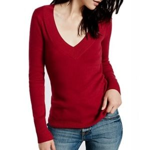 Express | Red V-Neck Sweater